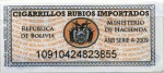 Bolivia tax stamp
