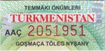 Turkmenistan tax stamp